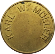 Token - KWM Münzprüfer (Karl W. Müller KG; no hole; without circle on obverse; 26 mm) – reverse
