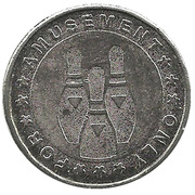Token - For Amusement Only (Bowling) – obverse