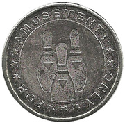 Token - For Amusement Only (Bowling) – reverse