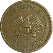 Token - No Cash Value (Eagle looking right; 22.7 mm; Brass) – obverse