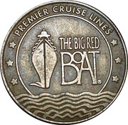 25 Cent Gaming Token - Premier Cruise Lines – obverse