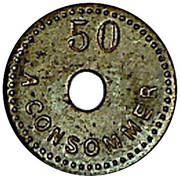 50 Centimes - A Consommer (M M) – reverse