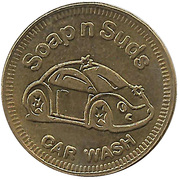 Carwash Token - Soap N Suds Car Wash – obverse