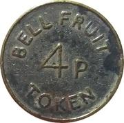 4 Pence - Bell Fruit Token (Nickel plated Brass) – reverse