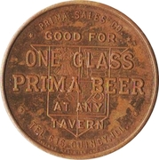 1 Glass Beer - Prima Brewing Company (Quincy, Illinois) – reverse
