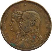 Token - Edward VII and Queen Alexandra (Royal Visit to Birmingham) – obverse