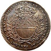 Token - États de Bourgogne (Maire de Dijon Jean-Pierre Burteur; 1 type) – reverse