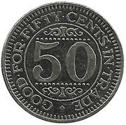 50 Cents Carwash Token – reverse