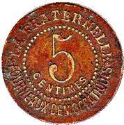 5 Centimes - La fraternelle (Ville de Béziers) – reverse