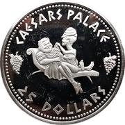 25 Dollars - Caesars Palace – reverse