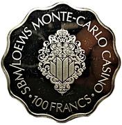 100 Francs - SBM/Loews Monte-Carlo Casino – reverse