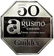 50 Guilder - Arusino Casino (Aruba Caribbean Hotel) – obverse