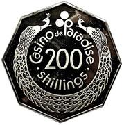 200 Shillings - Casino de Paradise (Nairobi Kenya) – reverse