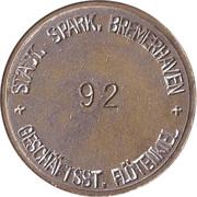 Safe deposit token - Sparkasse Bremerhaven (Bode-Panzer A.G.) – reverse