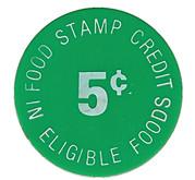 5 Cents - Food Stamp (Auerichtig Bros.) – reverse