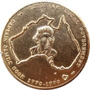 Medal - Captain James Cook Bicentenary – reverse