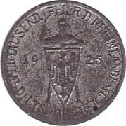 3 Reichsmark Rhineland (Miniature Coin) – obverse