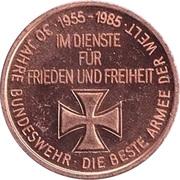 Token - 30 years of Bundeswehr (Hubschrauber mit Lenkwaffen Panzerabwehr) – reverse