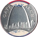Token - Sunoco Landmarks of America (Gateway Arch; Instant Winner) – obverse