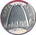 Token - Sunoco Landmarks of America (Gateway Arch) – obverse