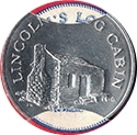 Token - Sunoco Landmarks of America (Lincoln's Log Cabin) – obverse