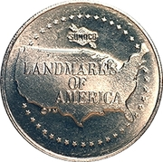 Token - Sunoco Landmarks of America (The Statue of Liberty) – reverse