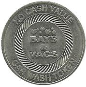 Car Wash Token - Bays & Vacs – reverse