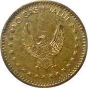 Token - No Cash Value (Eagle looking left, on both sides; 22 mm) – reverse