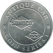 Token - Sunoco Antique Car Coin Series 1 (Daniels Town Brougham) – reverse