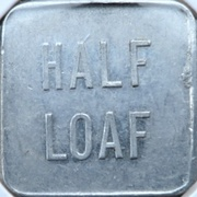 ½ Loaf Bakery Token - Lithgow Co-Operative Society – reverse