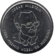 Token - Argentine Heroes of Knowledge (César Milstein) – obverse