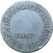 1 Loaf Bakery Token - Newcastle and Suburban Co-operative Society – obverse