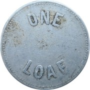 1 Loaf Bakery Token - Newcastle and Suburban Co-operative Society – reverse
