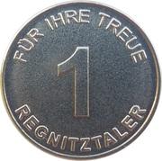 1 Regnitztaler - Heldsche Apotheken (Bamberg, Strullendorf, Hirschaid) – reverse