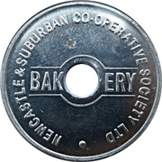 1 Loaf Bakery Token - Newcastle & Suburban Co-operative Society – obverse