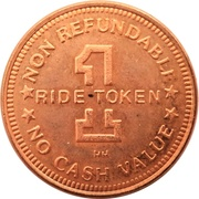 1 Ride Token - The Tide Shuttle (Santa Monica, CA.) – reverse