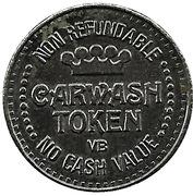 1 Dollar Carwash Token - Rainbow Car Wash – obverse
