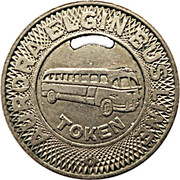 Bus Token - Aurora Elgin Bus Line (Elgin, Illinois) – reverse