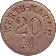 """20 Pfennig (Werth-Marke; Countermarked """"M"""") – obverse"""