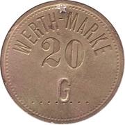"""20 Pfennig (Werth-Marke; Countermarked """"G"""") – obverse"""