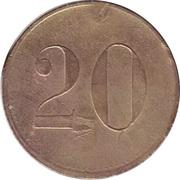 """20 Pfennig (Werth-Marke; Countermarked """"G"""") – reverse"""