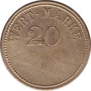 20 Pfennig (Wert-Marke; no line of dots) – obverse