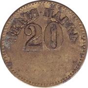 20 Pfennig (Werth-Marke; line of 7 dots) – obverse