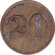 20 Pfennig (Werth-Marke; line of 7 dots) – reverse