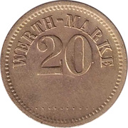 20 Pfennig (Werth-Marke; line of 11 dots) – obverse