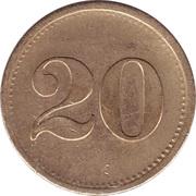 20 Pfennig (Werth-Marke; line of 11 dots) – reverse