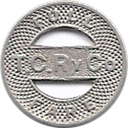 Full Fare - T.C. Ry Co (Rock Island, Illinois) – reverse