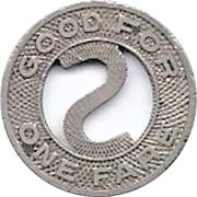 1 Fare - Springfield Consolidated RY. Co. (Springfield, Illinois) – reverse