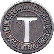 1 Fare - Twin City Motor Coach Inc. (Sterling, Illinois) – obverse