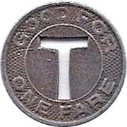 1 Fare - Twin City Motor Coach Inc. (Sterling, Illinois) – reverse